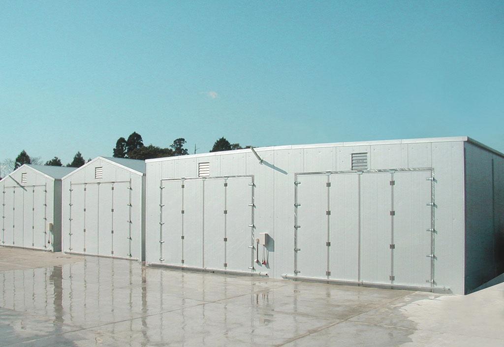 キノコ栽培施設:外壁(スプラインジョイント)